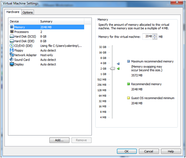installation de la machine virtuelle vmware linux
