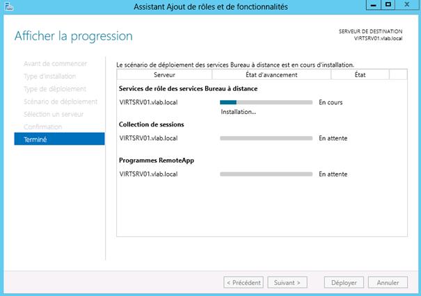 Windows server 2012 installation des services bureau - Bureau a distance windows server 2012 ...