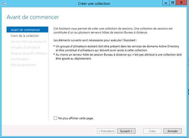 Windows Server 2012 Configuration des Services Bureau Distance