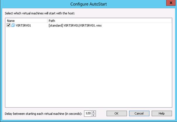 vmware workstation autostart machine